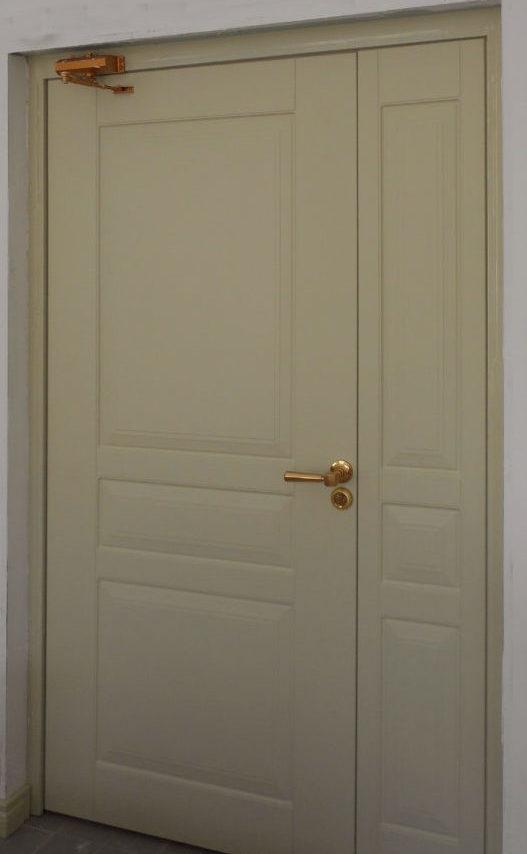 противопожарная дверь с огнестойкой панелью МДФ, металлическая противопожарная дверь с панелью МДФ на заказ с СПб