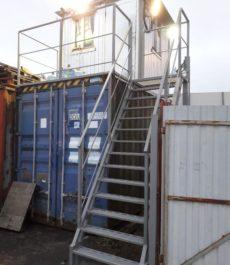 Лестница с площадкой для поста охраны