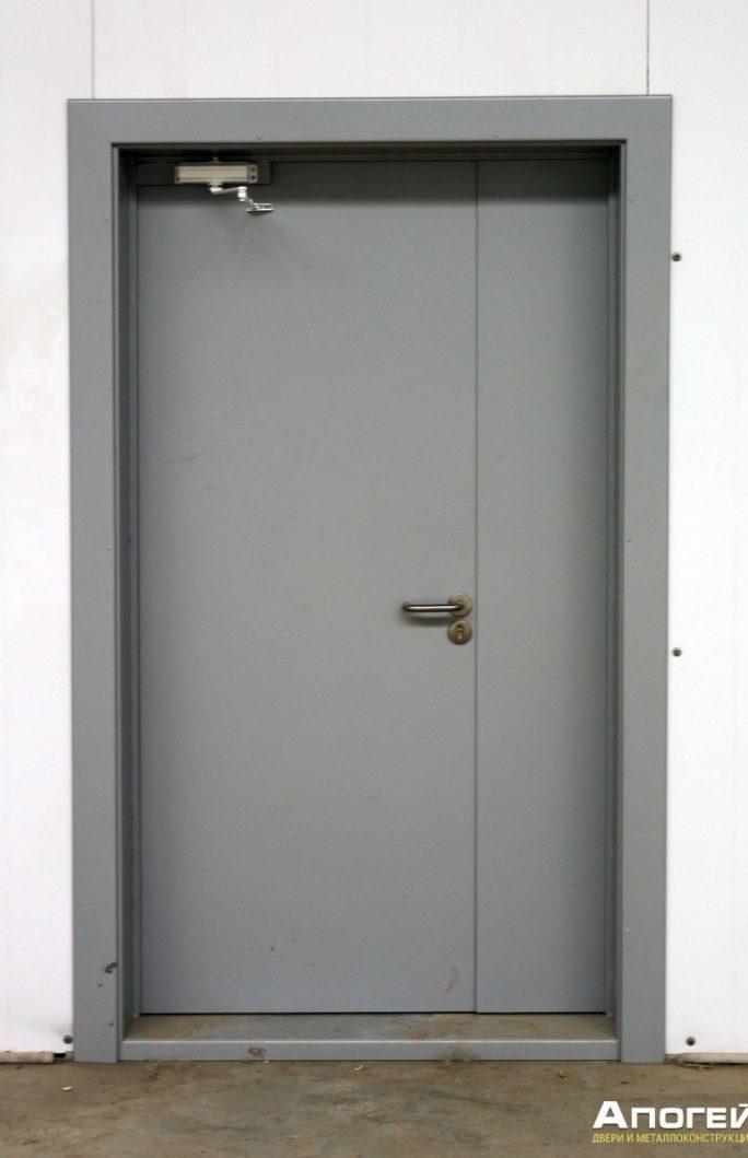 противопожарная дверь с широкой коробкой, заказать дверь противопожарную
