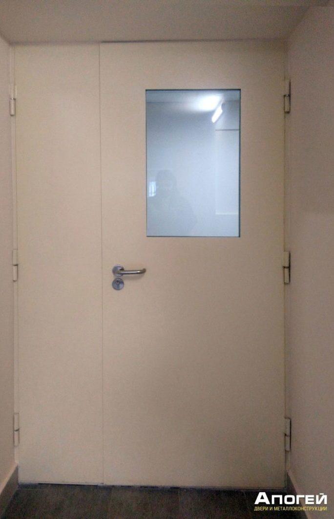 дверь огнестойкая с остеклением