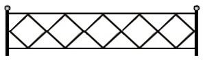 ограждение вариант, чертеж газонного ограждения,эскизы газонных ограждений скачать