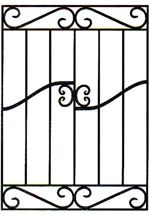 Модель кованой решетки, чертеж решетки оконной, каталог решеток металлических, решетка дорого