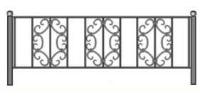 чертеж ограды, ограда на кладбище
