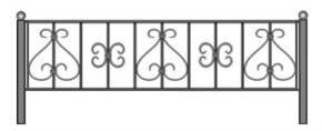чертеж ограды скачать, могильная ограда ленобласть, каталог оградок спб