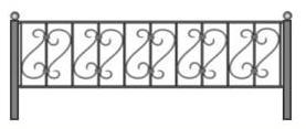 ритуальная ограда, ограда для могилы, красивая ограда, каталог оград спб