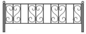 эскизы ограды