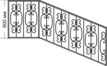 перила для лестницы, эскизы перил скачать, виды перил, кованые элементы на перила, фотогалерея перил