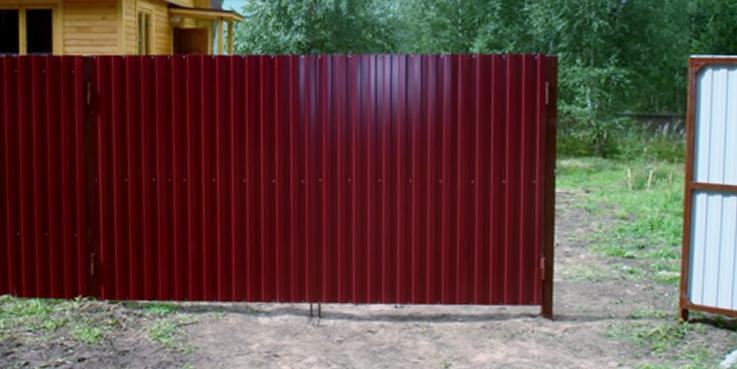 ворота садовые с профлистом