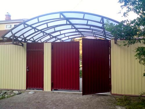 ворота и заборы из профнастила