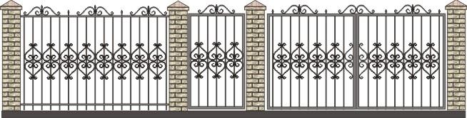 ворота садовые с элементами ковки