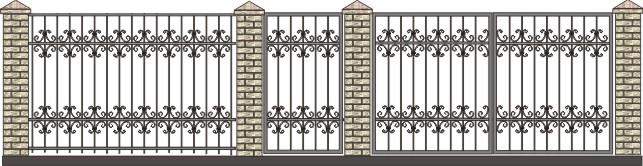 ворота загородные