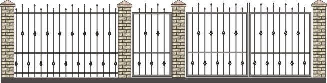 ворота дачные с узорами