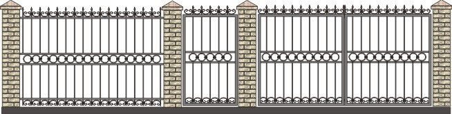 ворота от воров дачные